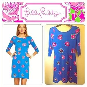 Lilly Pulitzer Royce Blue Corsage 🐣 Easter Dress